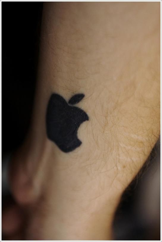 Cute Apple Tattoo On Wrist