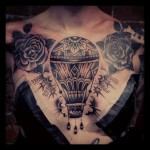 dark hot air balloon tattoo by Mark Houston