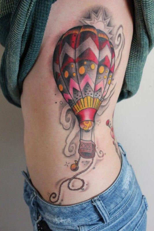 f54711a73 sidebody hot air balloon tattoo design - Design of TattoosDesign of ...