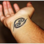 cancer zodiac wrist tattoo