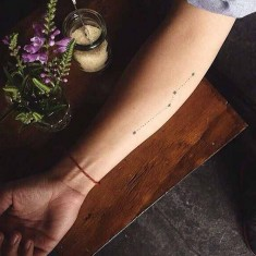 beautiful constellation tattoo design