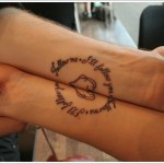 wrist tattoo for couples