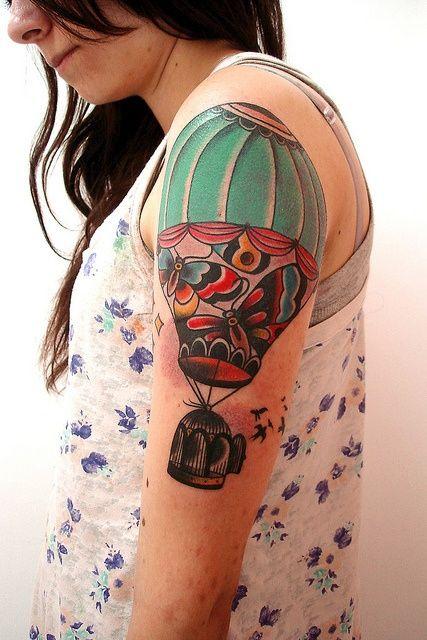 34ba982bd half sleeve hot air balloon tattoo. Views: 2395. 0. by Design of Tattoos