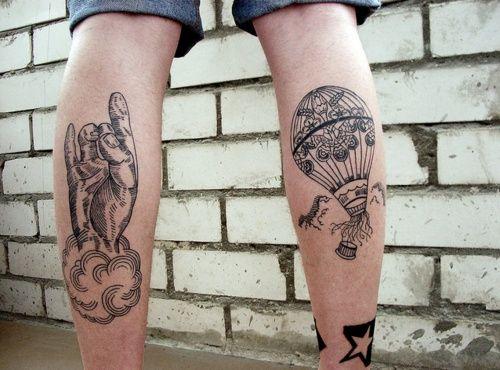 Leg tattoos in the air force