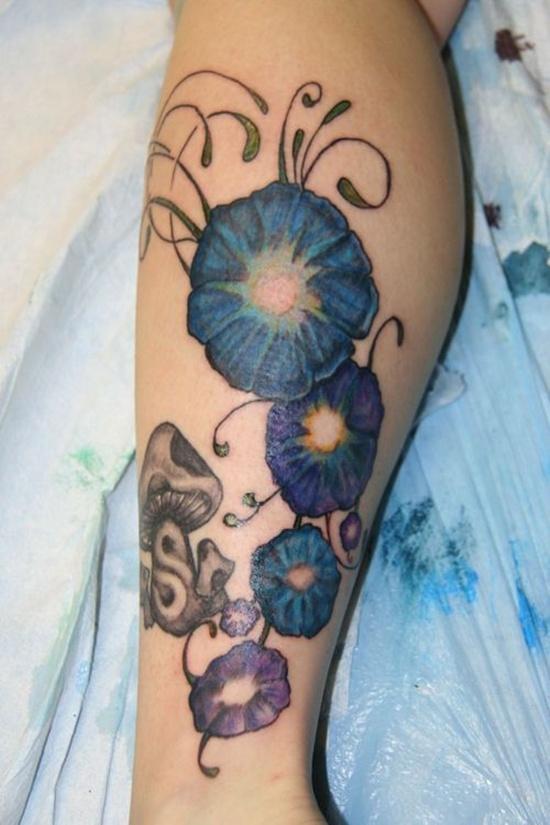 detailed morning glory tattoo design design of tattoosdesign of rh designoftattoos com Morning Glory Art Morning Glory Art