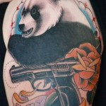 full sleeve panda bear tattoo