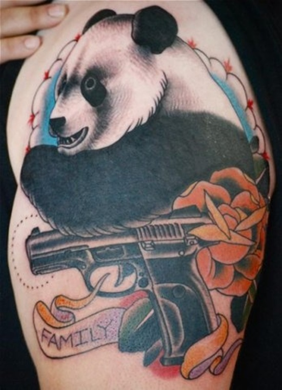 half sleeve panda bear tattoo design design of tattoosdesign of tattoos. Black Bedroom Furniture Sets. Home Design Ideas