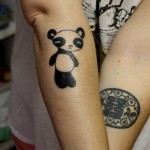 cute panda bear tattoo