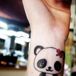 simple panda bear tattoo
