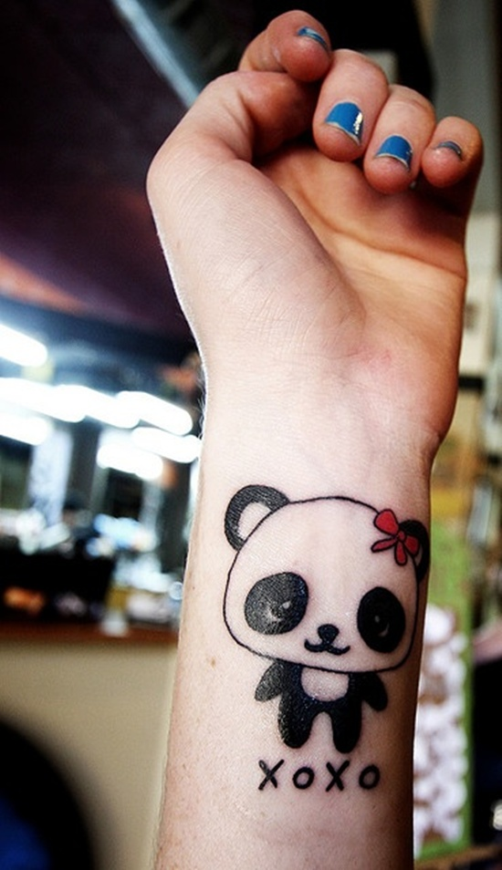 simple panda bear tattoo design design of tattoosdesign of tattoos. Black Bedroom Furniture Sets. Home Design Ideas