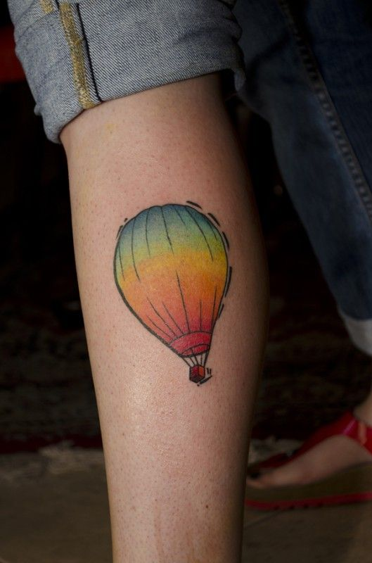 simple and colourful hot air balloon tattoo design of tattoosdesign of tattoos. Black Bedroom Furniture Sets. Home Design Ideas