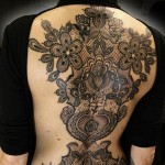 Marco Manzo full back baroque style tattoo design