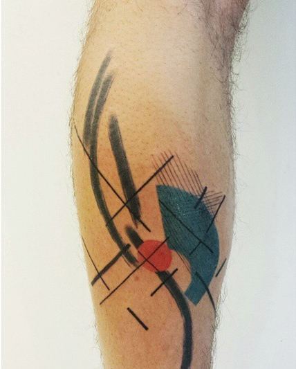 Aline Wata abstract color tattoo