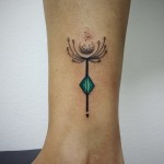 Aline Wata abstract dandelion tattoo