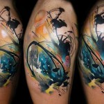 artistic sleeve tattoo design by Lehel Nyeste