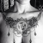 baroque chestpiece design for women