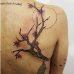 Aline Wata wonderful cherry blossom tattoo