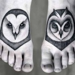 Kamil Czapiga black owl tattoo