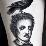 Kamil Czapiga black portrait tattoo desifn