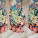 Lehel Nyeste color tattoo on hand