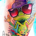 cool color tattoo design by Lehel Nyeste