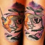 creative color tattoo design by Lehel Nyeste