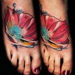 flower tatti design in colors by Lehel Nyeste