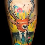 realistic color tattoo design by Lehel Nyeste