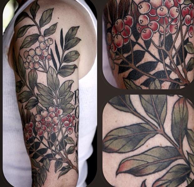 Alice Kendall beautiful flower tattoo