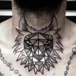 Akaua Pasqual black chest tattoo