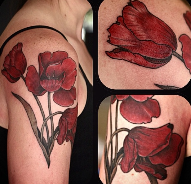 Alice Kendall creative flower tattoo