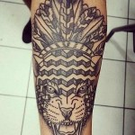 Akaua Pasqual fierce tiger tattoo design