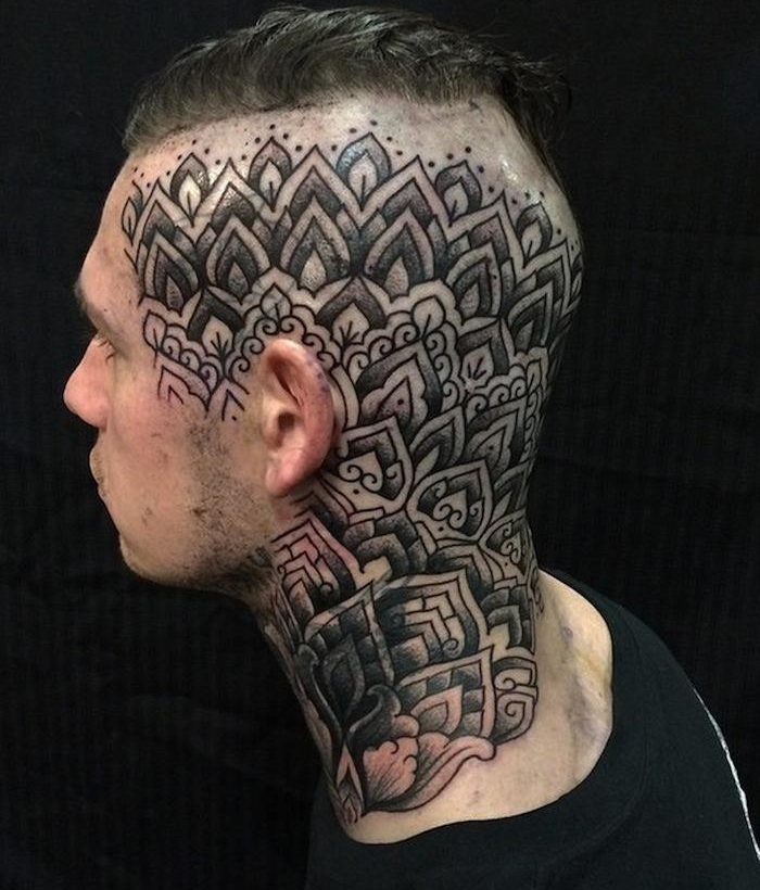 head tattoo by alvaro flores design of tattoosdesign of tattoos. Black Bedroom Furniture Sets. Home Design Ideas