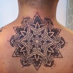 Alvaro Flores small tattoo design on neck