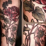 Alice Kendall wonderful flower tattoo design