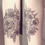 Ana Work floral tattoo design