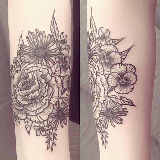 Ana Work floral tattoo design