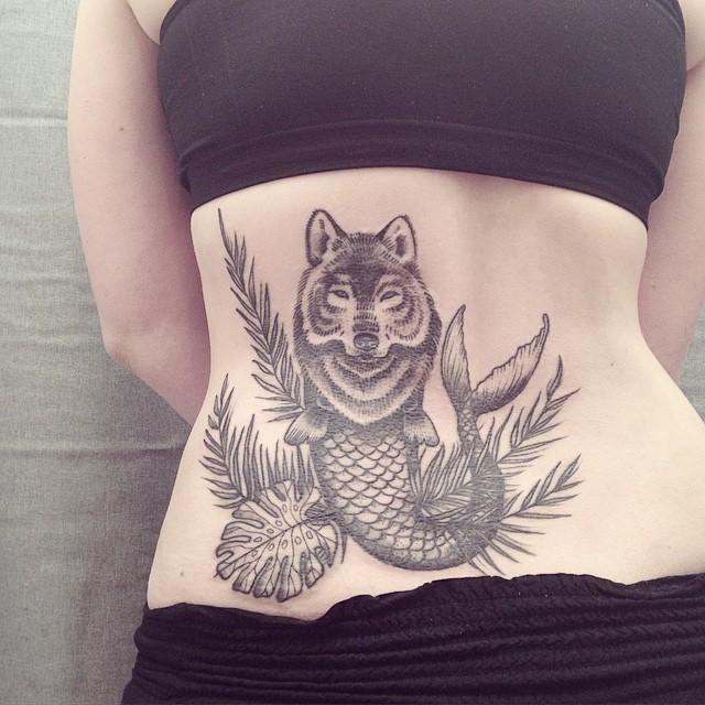 Ana Work wolf tattoo design