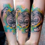 Lukasz Kaczmarek bear tattoo design