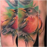 Lukasz Kaczmarek bird tattoo design