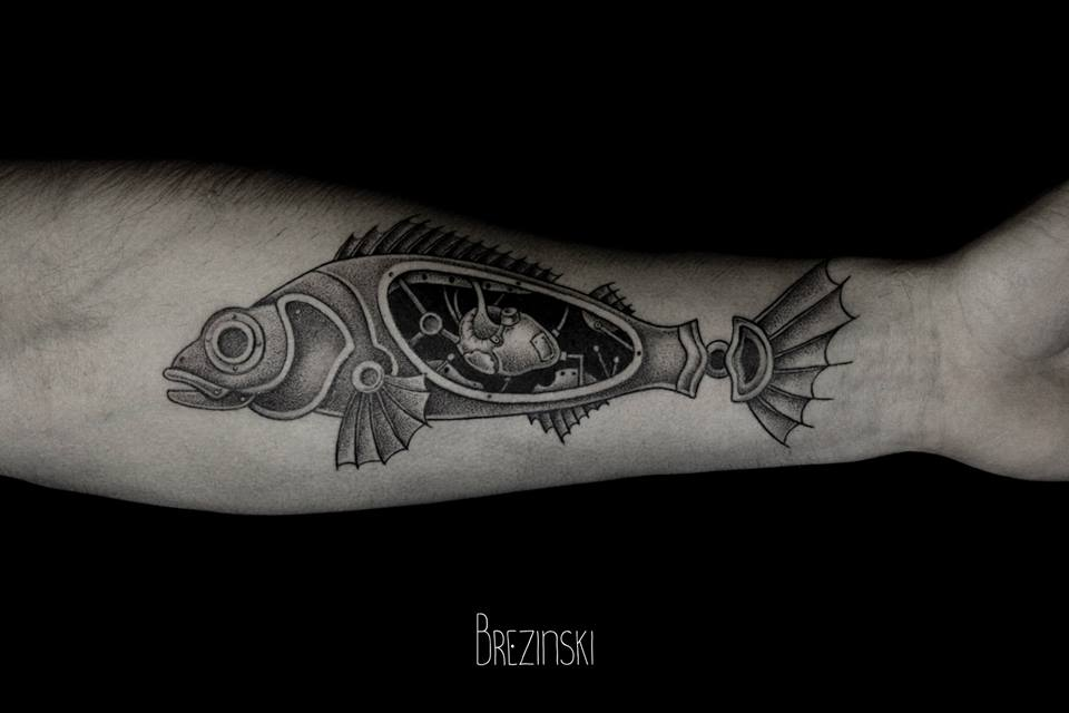 Ilya Brezinski fish tattoo design
