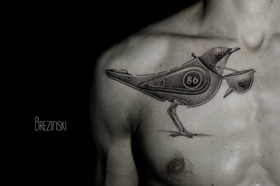 Ilya Brezinski interesting black tattoo design