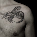 Ilya Brezinski lobster tattoo design