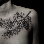 Ilya Brezinski pine tattoo design