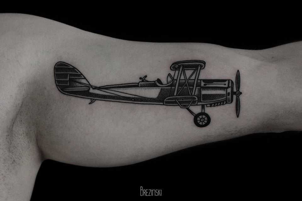 Plane Tattoo By Ilya Brezinski Design Of Tattoosdesign Of Tattoos
