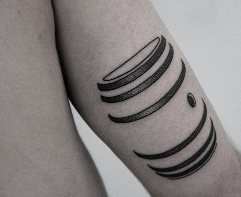 simple black and white tattoo designed by Ilya Brezinski