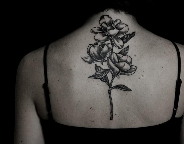 Ilya Brezinski tattoo designed on neck