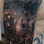 cemetery tattoo by Andy Howl