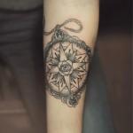 Diana Severinenko compass tattoo design