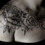 Diana Severinenko flower tattoo design